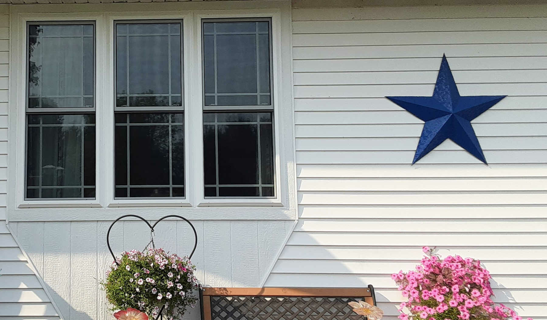Flat Bay window installtion by Balts Construction in Eau Claire, Wisconsin